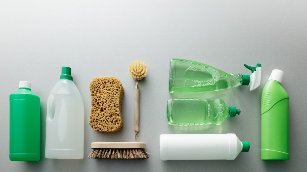Cleaning green cleaning products still life picture id888084888