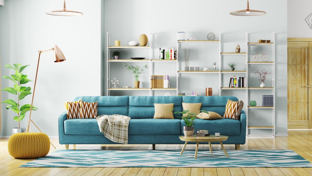 Interior of modern living room panorama 3d rendering picture id924986488