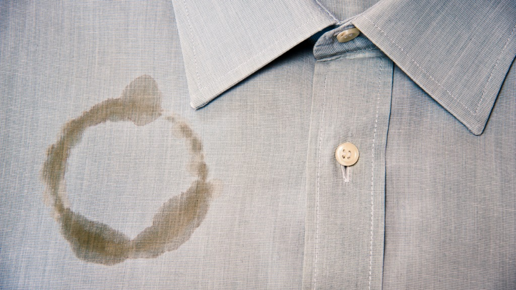 Coffee stain on a clean and folded shirt picture id184624876